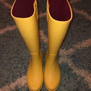 Yellow Tommy Hilfiger Rain Boots